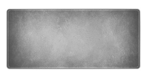 Silent Monsters Mauspad Größe XXL (900 x 400 mm) Mousepad Groß Design: grau - Vernähter Rand geeignet für Office und Gaming Maus sowie Tastatur