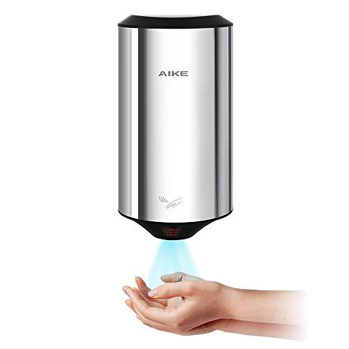 AIKE AK2805 ハンドドライヤー ミニ コンパクト型 小型 活性炭フィルター 温度自動調整可 ヒーター内蔵 壁掛け 速乾ジェットクリーンドライヤー 304ステンレス製 円柱形 多彩 5色(研磨)
