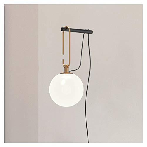 A-ZHP W. Lámpara de Pared, Fuente de luz LED Sala Comedor Modelo de Habitaciones Dormitorio Mesita de luz de la lámpara de Pared Simple Bola de la lámpara de Pared [Clase de energía A ++]