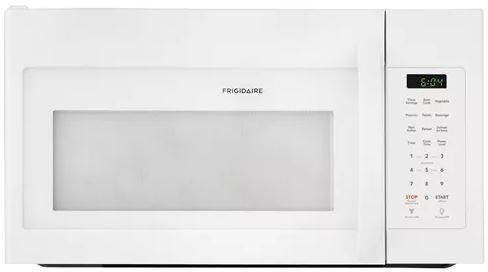 Frigidaire FFMV1745TW 30 Inch Over the Range Microwave Oven with 1.7 cu. ft. Capacity, 1000 Cooking Watts in White