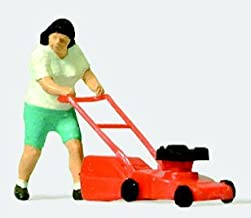 Preiser HO Scale Woman With Lawn Mower by Preiser