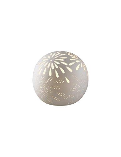 Petite lampe en porcelaine Rotoda 16 cm Motif fleurs Mascagni