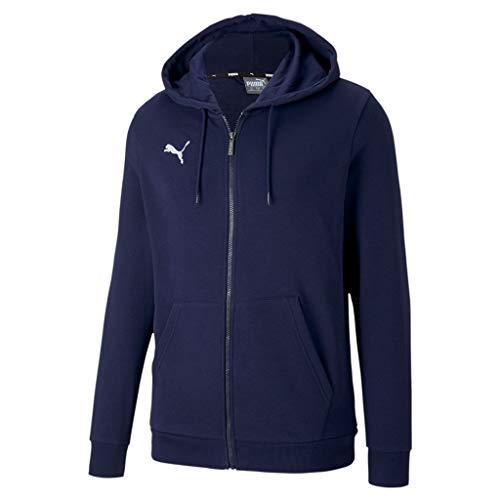 PUMA teamGOAL 23 Casuals Hooded Jacket Sudadera, Hombre, Peacoat, L