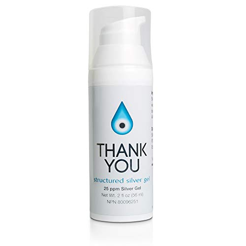 Thank You Silver Gel - Structured Silver Gel - 2oz - 25ppm - Topical Silver Ointment for Skin
