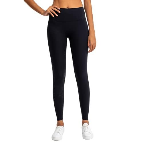 Pantalones de Yoga de Cintura Alta para Mujer de Gimnasio Anti-Sentadillas Pantalones elásticos de Secado rápido Pantalones para Correr al Aire Libre AS