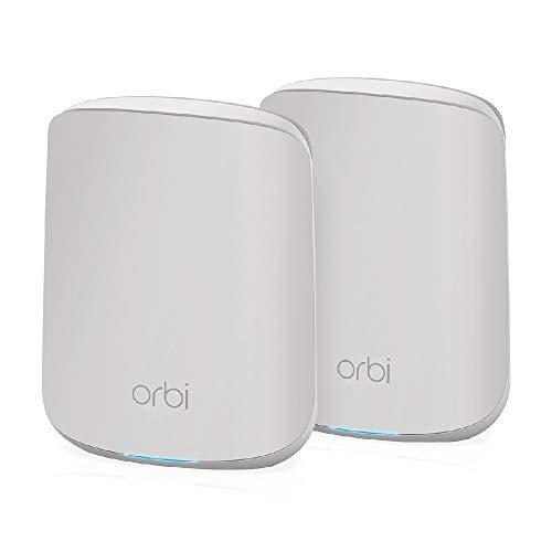 NETGEAR Orbi WiFi Mesh 6 RBK352, Sistema Dual Band composto da Router e 1 extender satellite   Copertura fino a 200 m² e oltre 30 dispositivi   AX1800 (fino a 1,8 Gbps)
