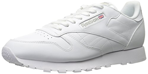 Reebok Men's Classic Leather Sneaker, White/Light Grey, 12 M US