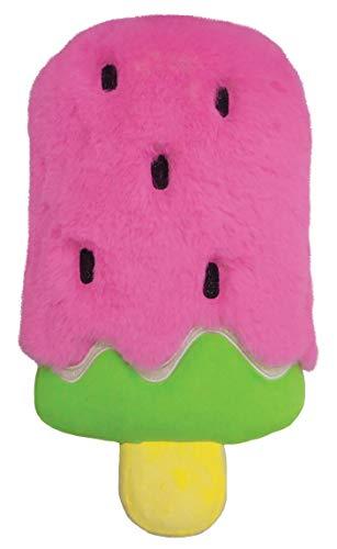 iscream Kawaii Cutie Watermelon Pop Embroidered Accent 14' x 7.5' Furry Pillow