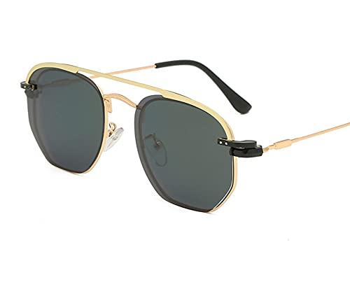 WANGZX Gafas De Sol De Moda Gafas De Manga De Metal Gafas De Playa para Hombres Y Mujeres Gafas De Sol Polarizadas Gafas De Sol para Viajes Al Aire Libre C2-Pinkgold