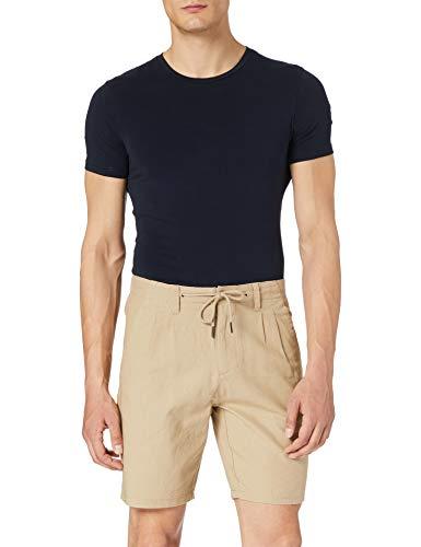 Only & Sons ONSLEO Shorts Linen Mix GW 9201 Noos Pantalones Cortos, Beige, XL para Hombre