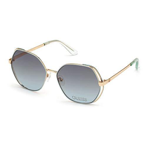 Guess Gafas de Sol GU7696-S STRASS Light Green Gold/Green Shaded 59/16/140 mujer