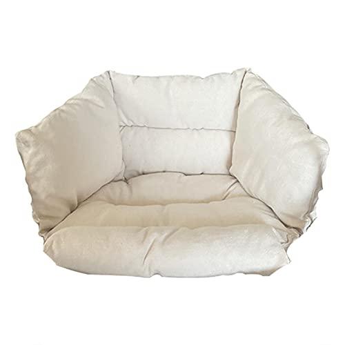 Cojín colgante de silla de la cesta cojín colgante de la silla del huevo, cojín grande impermeable colgante de la hamaca del huevo de la silla del oscilación de las almohadillas de la silla