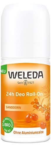 WELEDA Sanddorn 24h Deo Roll-on, natürliches Naturkosmetik Deodorant mit frischem Sanddorn Duft, wirksamer Schutz vor Körpergeruch, 24 Stunden zuverlässig ohne Aluminium (1 x 50 ml)
