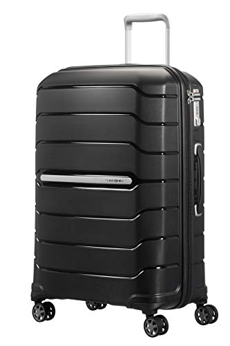 Samsonite Flux Spinner M Valigia Espandibile, 68 cm, 85 L, Nero (Black)