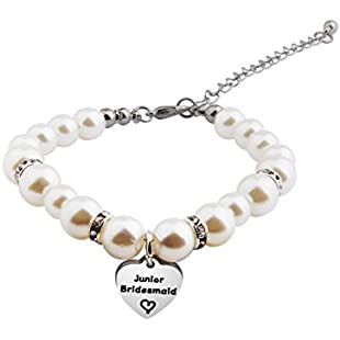 Zuo Bao Bridesmaid Jewelry Gift Crystal Pearl Bracelet for Chief/Junior Bridesmaids (junior bridesmaid)