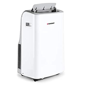 EUHOMY 10,000 BTU Portable Air Conditioner Dehumidifier Portable Ac Unit With Remote Control Floor Air Conditioner With Window Installation Kit For Room Office Dorm Bedroom White