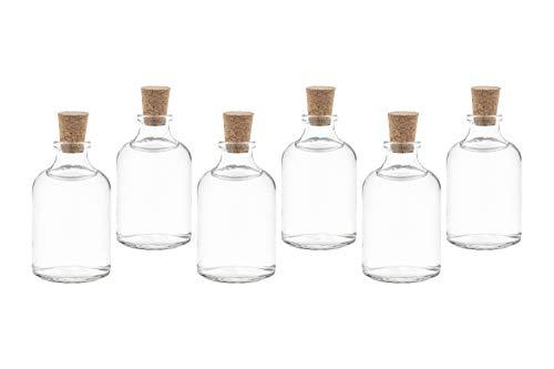 casa-vetro 25 x 50 ml Mini-TR kleine Glasflaschen Bottles mit Korken Flaschen Fläschchen 25 50 100 cc