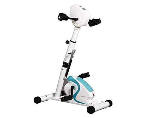 XYLUCKY Pedaltrainer Elektronische Physiotherapie Rehabilitation Stationäres Fitnessgerät Fahrrad-, Arm- und Beintrainingsgerät für behindertengerechten Schlaganfall [Fußschutz senden]