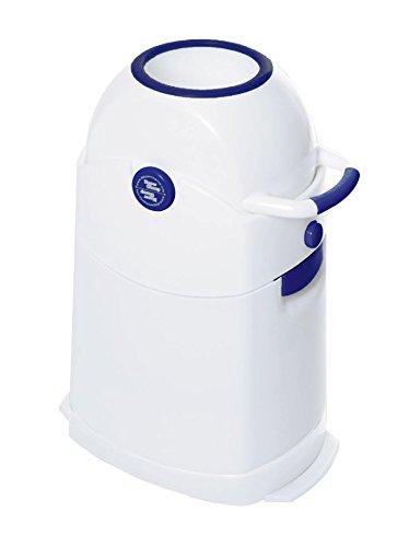 Diaper Champ 04002-01- Cubo de basura para pañales, tamaño pequeño, color azul y blanco