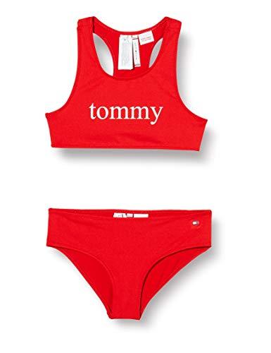 Tommy Hilfiger Mädchen Bralette Bikini-Set, Rot (Red Glare), 8-9 Jahre (Herstellergröße:)