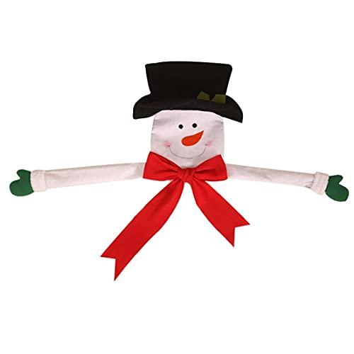 Durable 1pc Large Christmas Tree Topper Soft Felt Hugger Xmas Party Decoration Ornament Christmas Tree Decorations Supplies(Snowman)