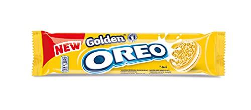 Oreo Golden - Biscotti ripieni di crema al gusto vaniglia, 154g