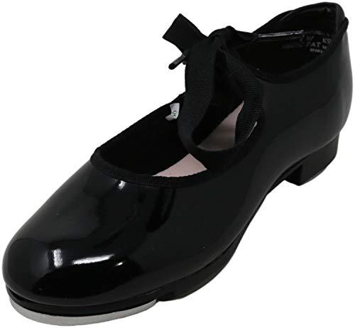 Capezio girls Jr. Tyette Tap Shoe, Black Patent, 5.5 M US Toddler