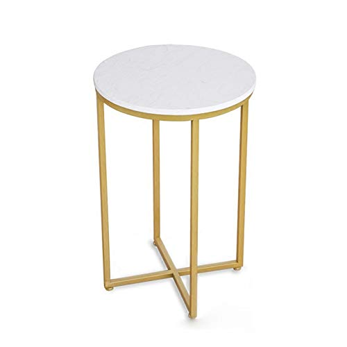 Nordic Modern Small Coffee Table Simple Golden Iron Marble Coffee Table Living Room Sofa Side Table Balcony Tea Table