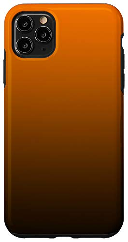 iPhone 11 Pro Max Modern Orange Black Ombre Case