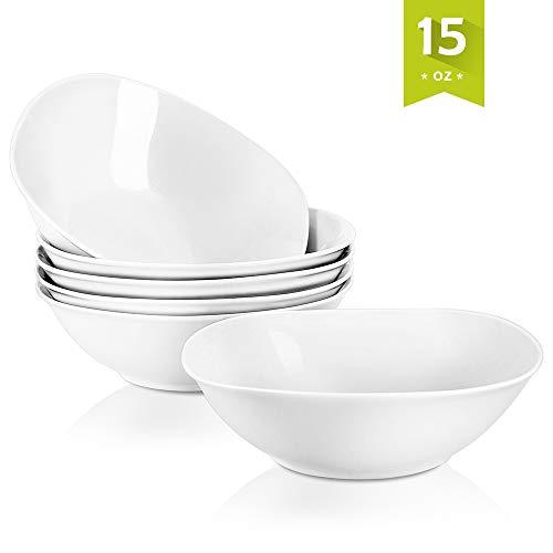 """MALACASA, Serie Elisa, 6 teilig Set Porzellan 6,7\"""" Schälen Müslischüssel Salatschüsseln DessertSchälen für 6 Personen"""