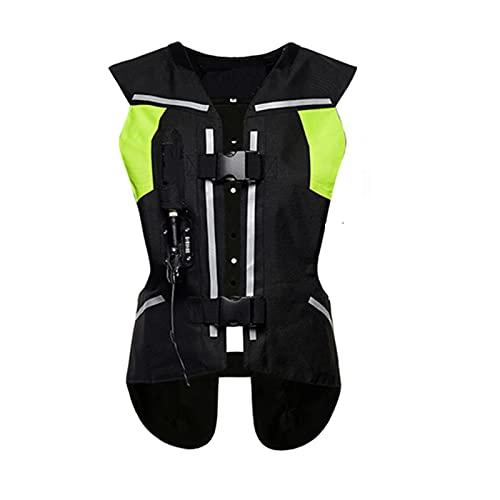 Chaleco Con Airbag De Motocicleta Para Hombre Chaleco Reflectante De Motocicleta Airbag De Gatillo Mecánico Chaleco Con Airbag Reflectante Adecuado Para Montar En Moto Y Montar A Caballo Equipo de cic