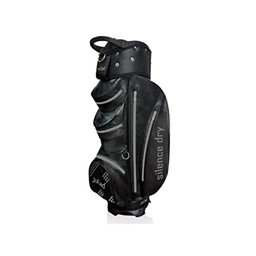 JuCad Bag Silence Dry | Waterproof/Wasserdicht | Golfbag/Cartbag | 9 inch (Schwarz-Rot)