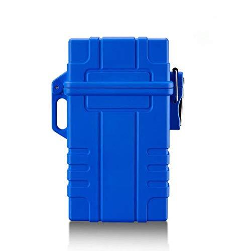 Yuan Ou Zigarettenetui Tragbares USB-Ladegerät Elektrisches Feuerzeug für Zigaretten und wasserdichtes Gehäuse für den Außenbereich Winddichtes, flammenloses elektronisches Feuerzeug blau
