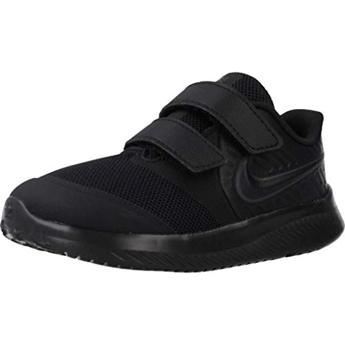 Nike Star Runner 2 (TDV), Sneaker Unisex-Bimbi 0-24, Nero (Black/Anthracite/Black/Volt 003), 25 EU