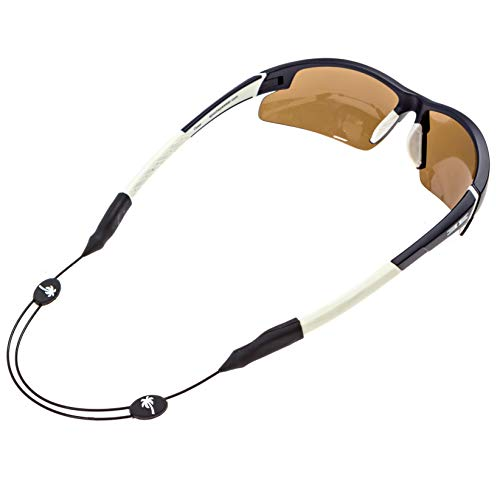 Luxe Performance Palm Tree Cable Strap - Premium Adjustable No Tail Sunglass Strap and Eyewear Retainer for Your Sunglasses, Eyeglasses, or Prescription Glasses (Palm Tree)