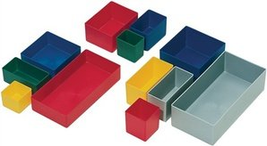 Insatslåda grön L106 x B80 x H54 mm för sortiment lådor PS 25 st/VE