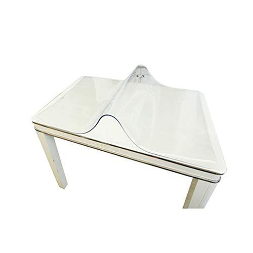 AMDHZ Protector Mesa PVC Transparente Vidrio Blando Rectángulo 1,5 Mm, 2 Mm Manteles Impermeable Y Anti-Quemaduras Tapete De Mesa De Plástico Mantel Transparente (Color : 1.5mm, Size : 85X135cm)