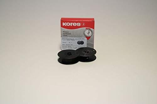 Kores 2248541 Ruban de haute qualité en nylon compatible avec Imprimante Anker 13 mm x 10 m Noir