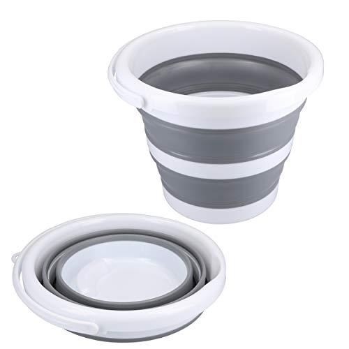 mumbi Eimer faltbar 5l - robuster Falteimer 5 Liter Fassungsvermögen für Camping, Haushalt, putzen etc.
