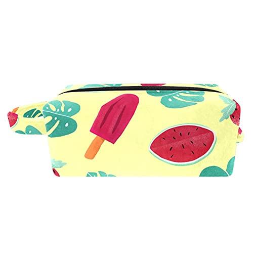 Bolsa para Cosméticos Fresa Sandía Bolsas de Maquillaje de Viaje Portátil Neceser de Maquillajepara para Mujeres niñas 21x8x9 cm