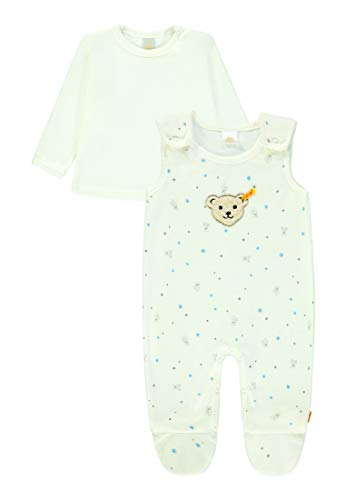 Steiff Baby-Jungen 2tlg. Set o Nicky + T-Shirt 1/1 Arm Strampler, Blau (Allure Blue 3110), 50