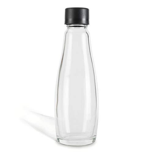 Zoomyo Glasslife Zubehör für die Glasslife Wassersprudler mit passenden Glasflaschen, CO2-Zylindern und Abtropfhaltern (Glasflasche 1er)