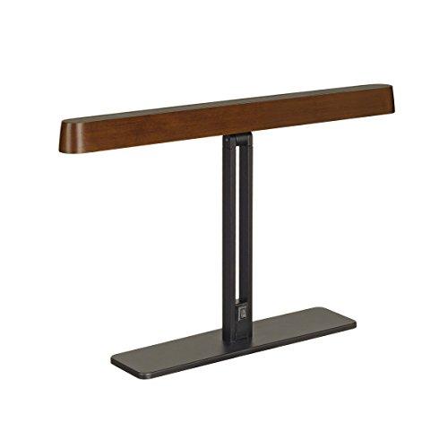 SLV Design LED Tischleuchte Vincelli TL schwarz/bambus 156237