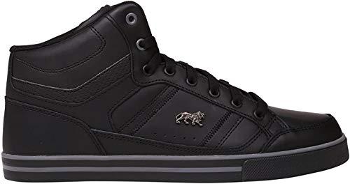 Lonsdale Canons Herren Turnschuhe Hi Top Sneaker Logo Freizeit Sport Schuhe Schwarz/Anthrazit 9 (43)