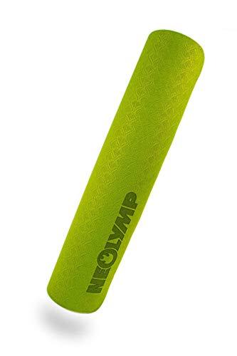 NEOLYMP Premium Yogamatte aus hochwertigen TPE ist rutschfest und aus umweltfreundlichem Material, außerdem extrem langlebig. (Moosgrün)