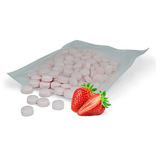 Zahnpflege Pool XYLIT Bonbons für gesunde Zähne | Pastillen mit Xylit | Vegan und Zuckerfrei | verschiedene Geschmacksrichtungen | 1.000g Großpackung | Kariesschutz (Erdbeere)