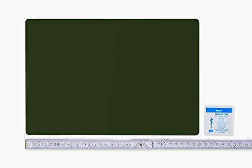 Flickly - Parche para reparación, diseño de Lona, Disponible en Muchos Colores, 30 cm x 20 cm, Autoadhesivo, Color Verde Bronce