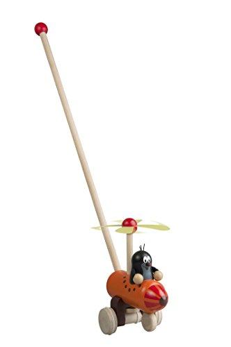Detoa 13885 Schiebespielzeug Maulwurf im Hubschrauber