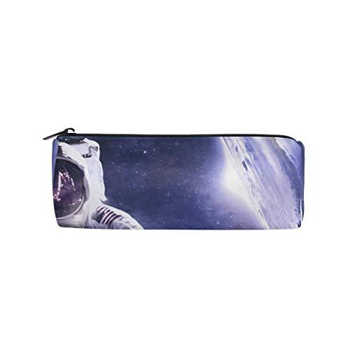 Lawenp Estuche para lápices de astronautas del universo del espacio exterior, estuche para bolígrafos para estudiantes, bolsa de maquillaje redonda para niños y niñas