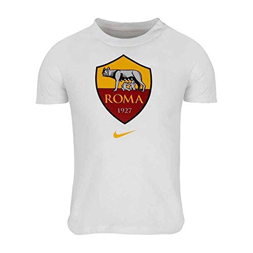NIKE Roma M NK tee Evergreen Crest T-Shirt, Hombre, White, XL